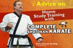 Advice on Home Study Training with Complete Shotokan Karate