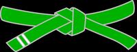 belt-green-stripe