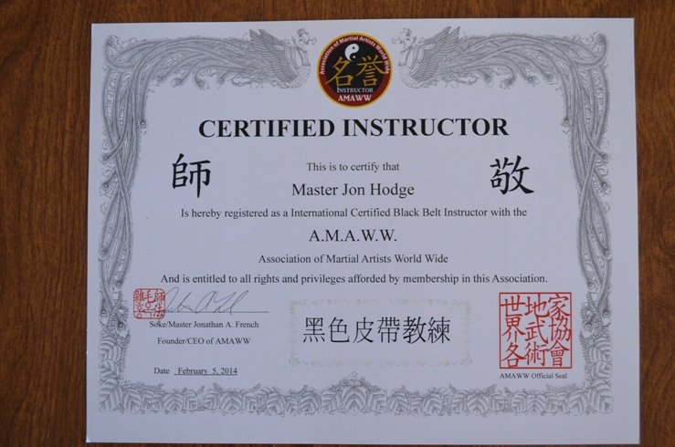 All Rank Earned Is Recognized By The Association Of Martial