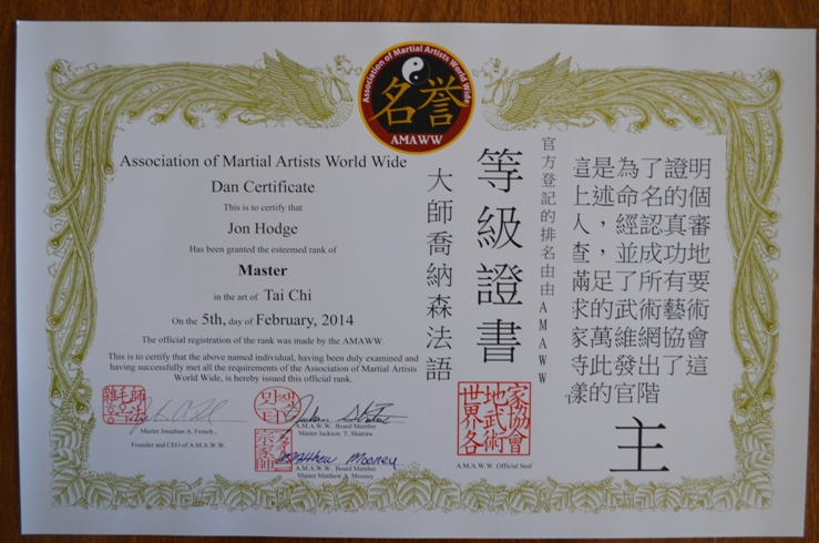 how to become a tai chi instructor australia